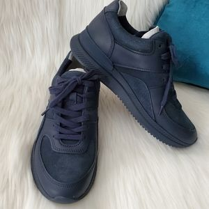 Everlane Navy Blue Unisex Trainer Suede Sneakers